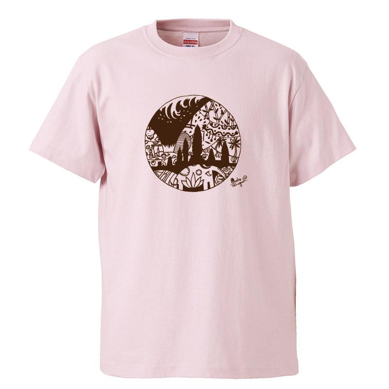 まわりめぐるハッピーTシャツ ライトピンク