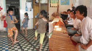 孤児院で踊りを学ぶ子どもたち