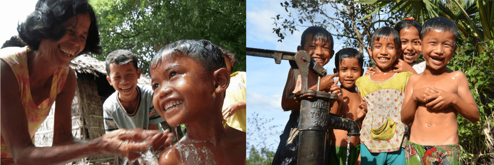 カンボジアの子どもたちの笑顔
