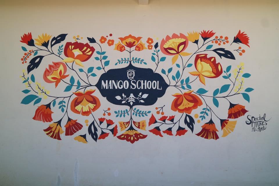マンゴースクールの素敵な壁画